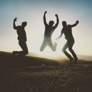 若者ジャンプ 友達3人