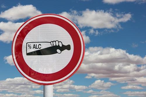 アルコール注意看板