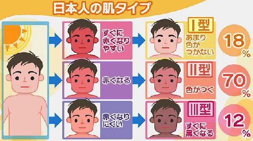 日本人の肌タイプ 紫外線編